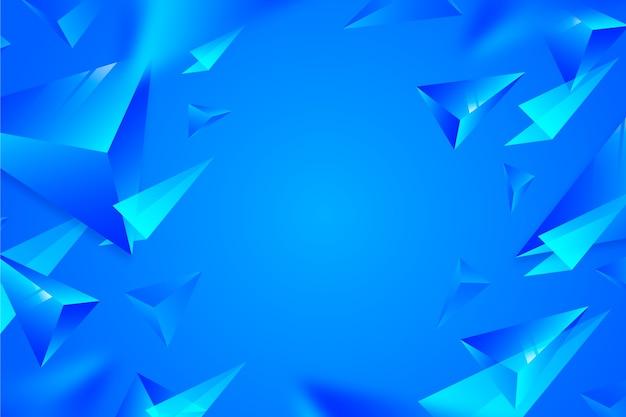 Levendige kleuren 3d driehoeken achtergrond