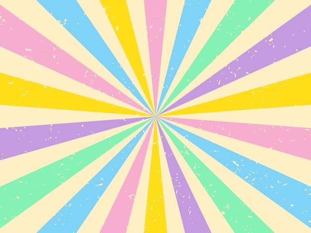 Levendige kleuren sunburst achtergrond