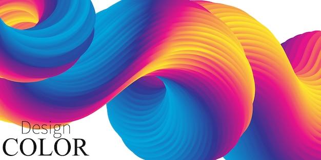 Levendige kleuren. vloeiende vorm. vloeibare achtergrond. trendy abstracte dekking. stromen. futuristische poster. vloeibare golf. vloeistofstroom. kleurverloop. .