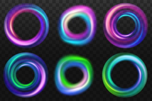 Levendige kleurrijke abstracte kleurovergang vervaagt collectie