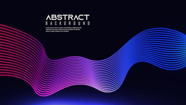 Levendige lineaire golven achtergrond met meerdere kleuren