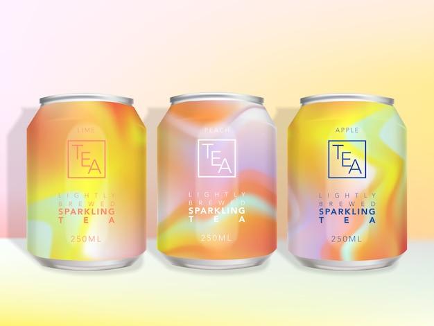 Levendige stroompatroon kan dranken, bier, alcoholische dranken, verpakkingsontwerp