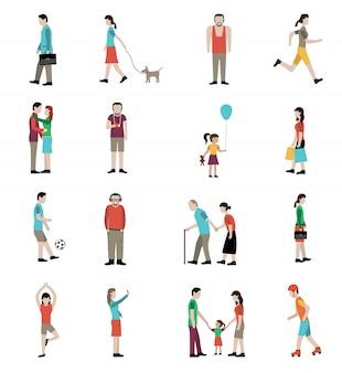 Levensstijl icons set