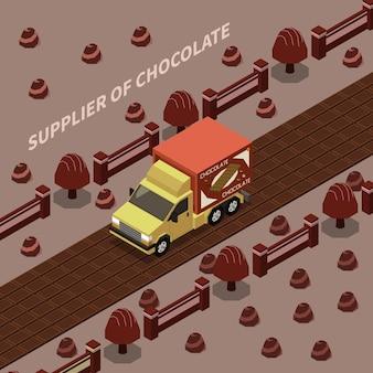 Leverancier van chocolade illustratie