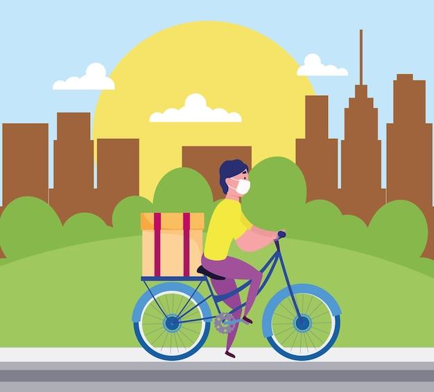 Levering man fiets