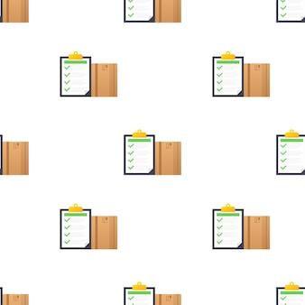 Levering patroon. bezorgservice-app. vlakke stijl vectorillustratie.