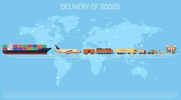 Levering van goederen concept