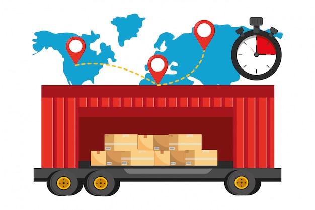 Levering volgservice verzending logistiek