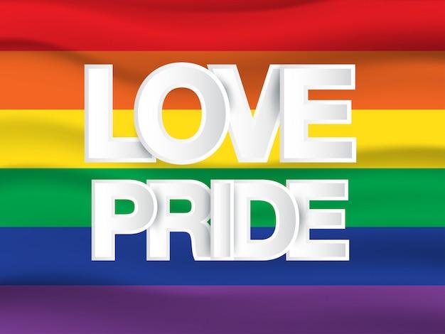 Lgbt, homo en lesbische vlag van de trotsregenboog