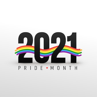 Lgbt pride month 2021-concept. vrijheids vector regenboogvlag met hart. gay parade jaarlijkse zomer evenement. trotssymbool met hart, lgbt, seksuele minderheden, homo's en lesbiennes. sjabloonontwerper teken, pictogram