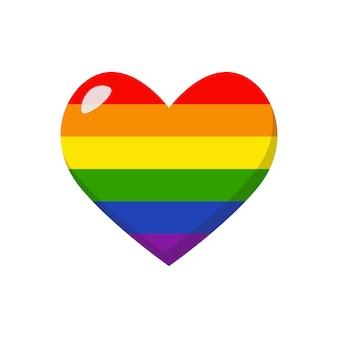 Lgbtq regenboog hart. lgbt-gemeenschap teken. vector illustratie