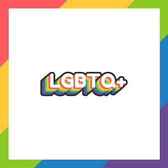 Lgbtq-sticker of label voor trotsmaand in plat ontwerp met regenboogkleuren