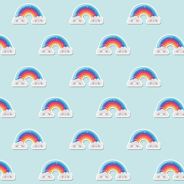 Lgtbi regenbogen achtergrondontwerp