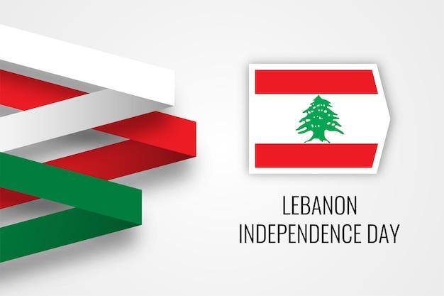 Libanon onafhankelijkheidsdag illustratie sjabloon