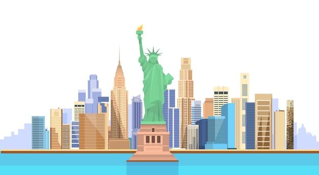 Liberty statue verenigde staten new york city view