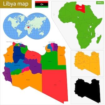 Libië kaart