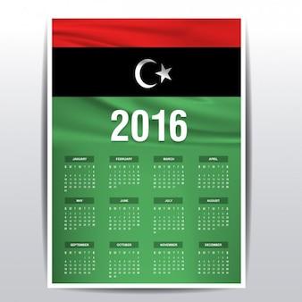 Libië kalender van 2016