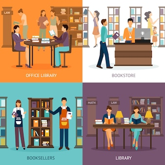 Library service 2x2 set