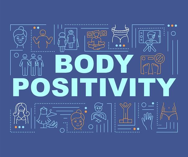 Lichaam positiviteit woord concepten banner