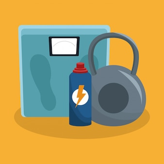 Lichaamsbalans met kettlebell en thermo