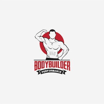 Lichaamsbouw bodybuilding gym-logo