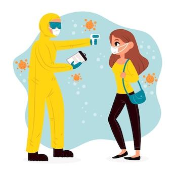 Lichaamstemperatuur controleren in openbare ruimtes
