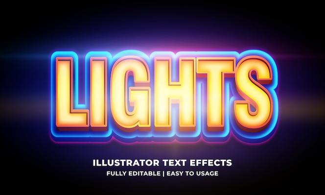 Licht 3d-tekststijleffect op