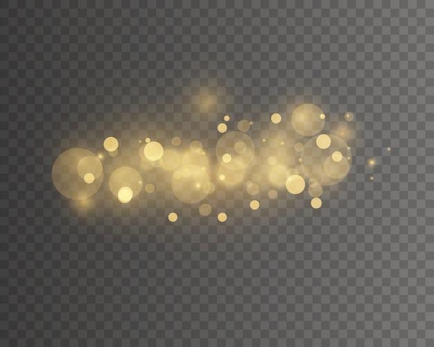 Licht abstracte gloeiende bokeh lichten