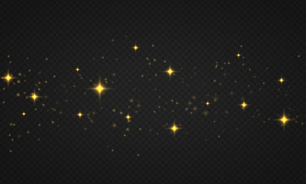 Licht abstracte gloeiende bokehlichten stralende sterzondeeltjes en vonken met lensflare-effect