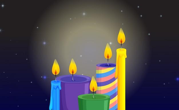 Licht afkomstig van kaarsen