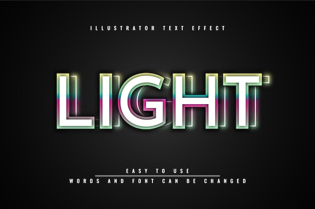 Licht - bewerkbaar teksteffectontwerp