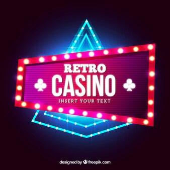 Licht casino teken achtergrond