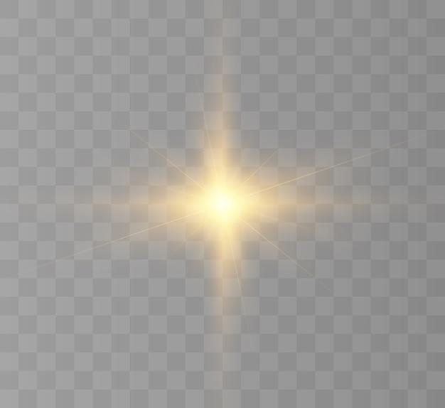 Licht effect. heldere ster, abstracte gloed.
