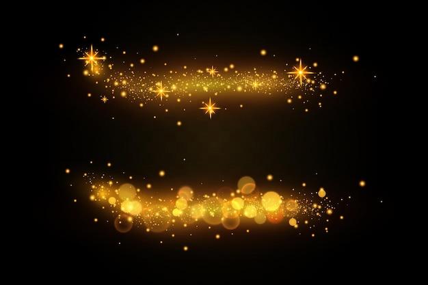 Licht effect. sprankelende deeltjes. glinsterende elementen.