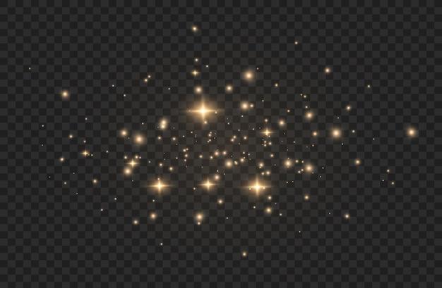 Licht effect. sprankelende magische stofdeeltjes