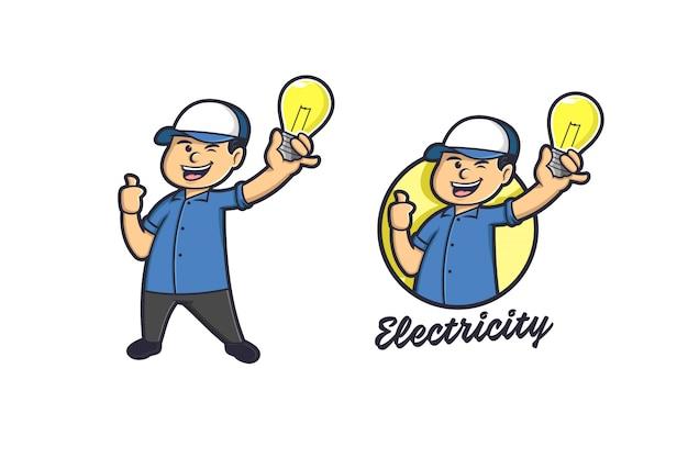 Licht en lamp elektriciteitslogo