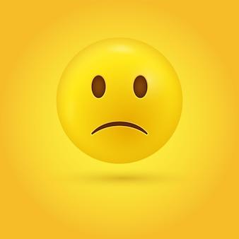 Licht fronsend verdrietig emoji-gezicht