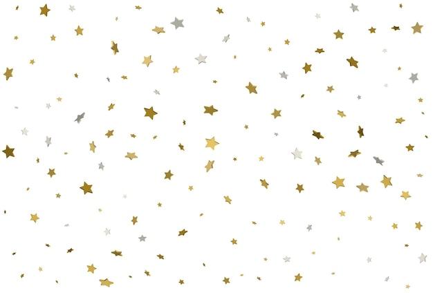 Licht gouden glitter confetti achtergrond d sterren