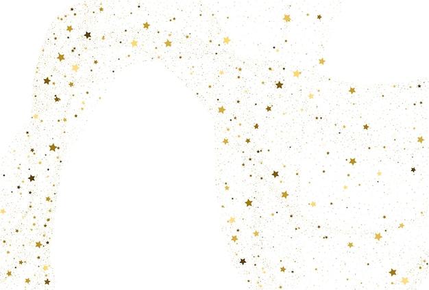 Licht gouden glitter confetti achtergrond. gouden sterren digitaal papier. witte vakantietextuur