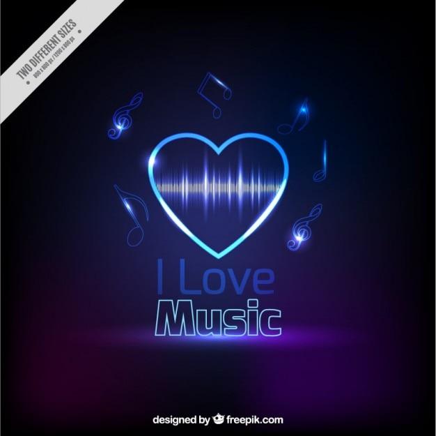 Licht hart muzikale achtergrond