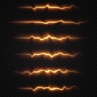 Licht horizontale lens flares pack laserstralen horizontale lichtstralen
