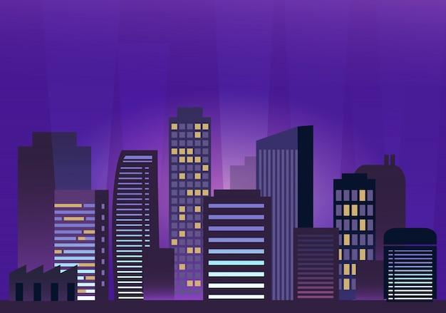 Licht in de nachtstad