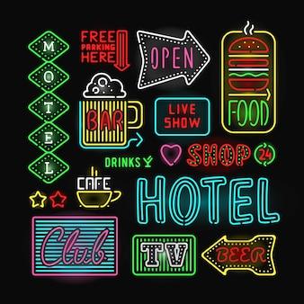 Licht neon labels vector illustratie