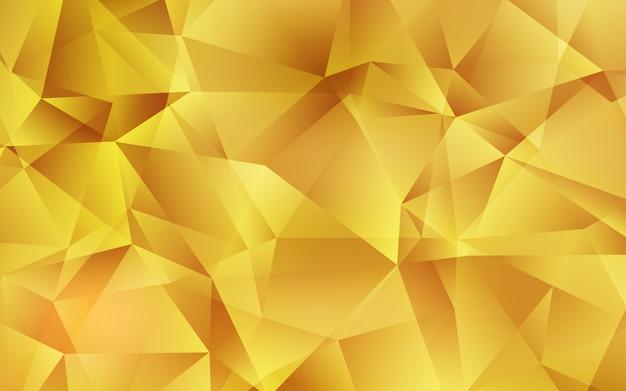 Licht oranje vector veelhoekige sjabloon.