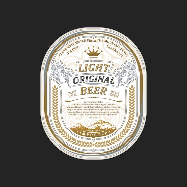 Licht origineel bierembleem