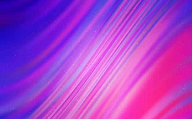 Licht paarse, roze vector textuur met melkweg sterren.