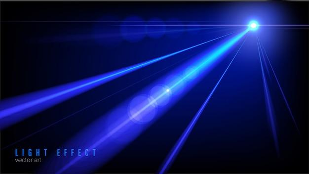 Licht schijnend effect in vector