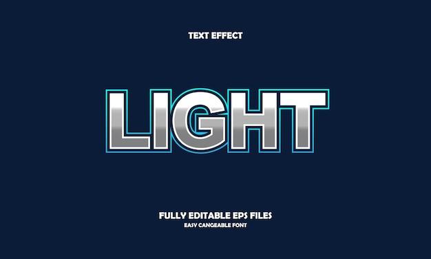Licht teksteffect