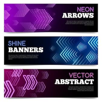 Licht uithangborden banners set