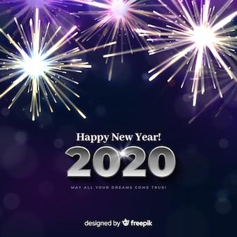 Licht vuurwerk nieuw jaar 2020